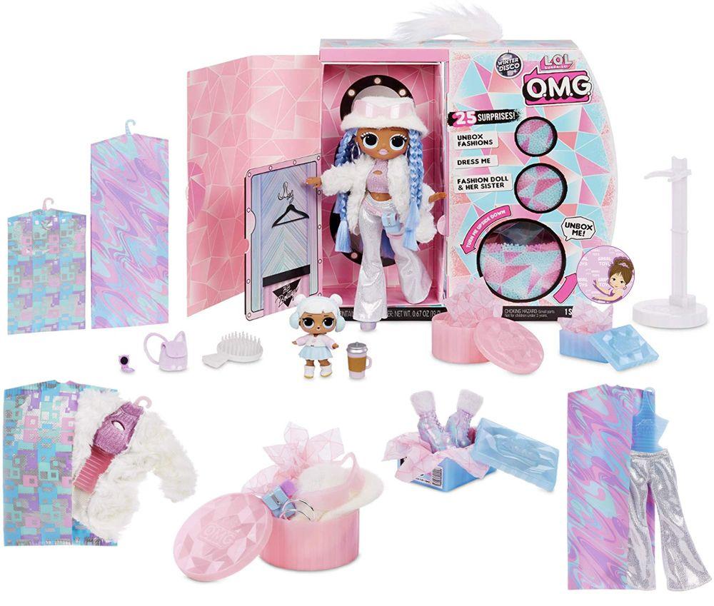 L.O.L. Winter Disco Snowlicious and Snow Angel dolls