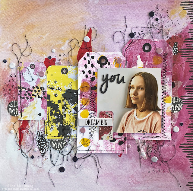 Scrapbooking Layout: Dream big