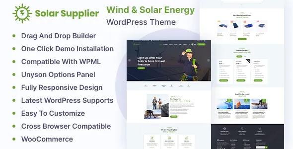 Best Wind & Solar Energy WordPress Theme