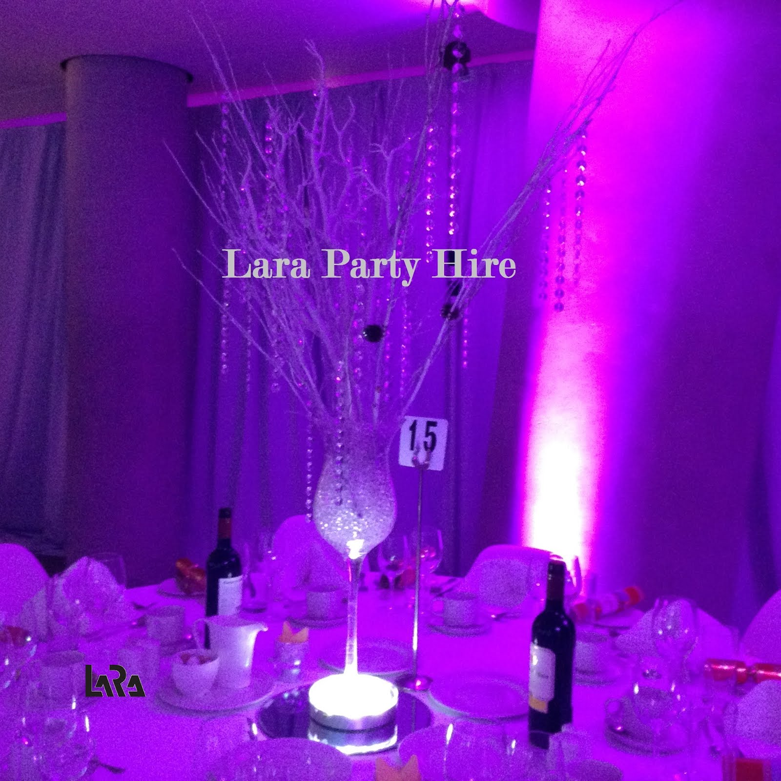 Large Wine Glass Centerpieces