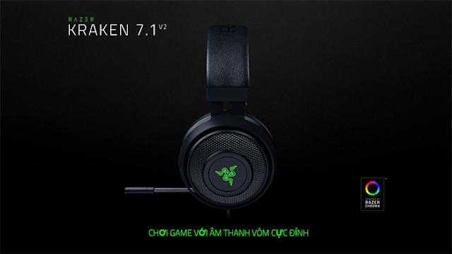 Tai nghe chơi game Razer Kraken 7.1 V2