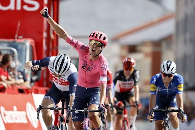 Magnus Cort vibra com terceira vitória em etapas da Vuelta a España 2021