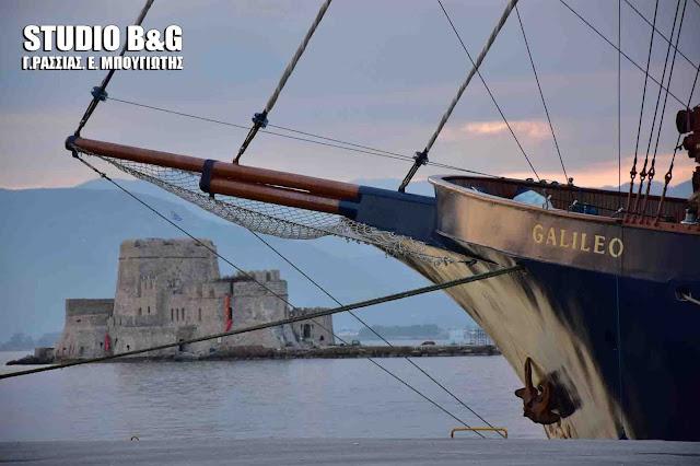 Το εντυπωσιακό ιστιοφόρο Galileo στο Ναύπλιο