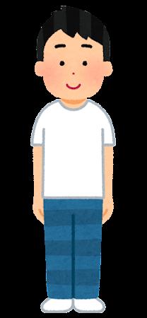 Tシャツを着た人のイラスト(男性)