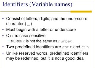 identifier in C++