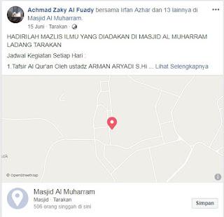 Jadwal Kajian Majlis Ilmu di Masjid Al Muharram Ladang Tarakan - Kajian Islam Tarakan
