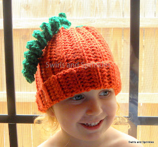 Swirls and Sprinkles: Easy Crochet Toddler/Child Pumpkin Hat.  Free Pattern