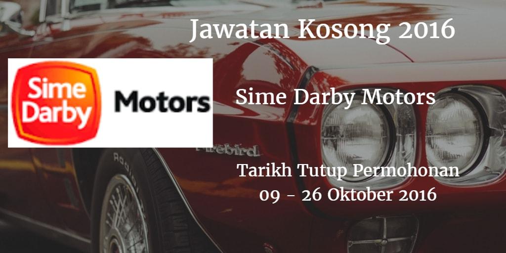 Jawatan Kosong Sime Darby Motors 09 - 26 Oktober 2016