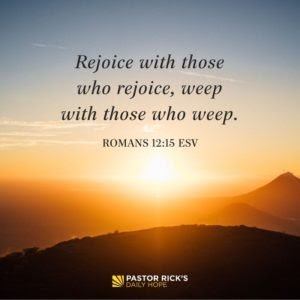 How to Rejoice in God's Goodness to Others by Rick Warren