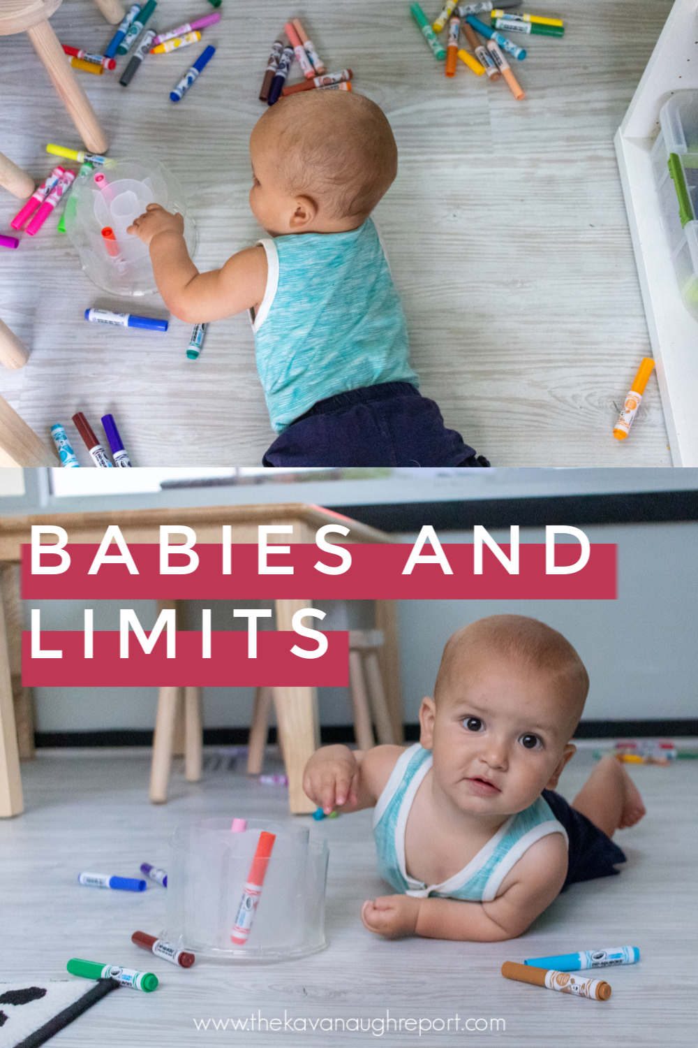 Parenting advice for disciplining babies through limit setting. Here are 4 Montessori steps to consider when setting limits with your baby.