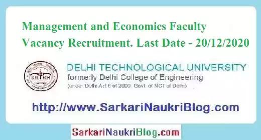 DTU Economics Management Professor Recruitment 2020