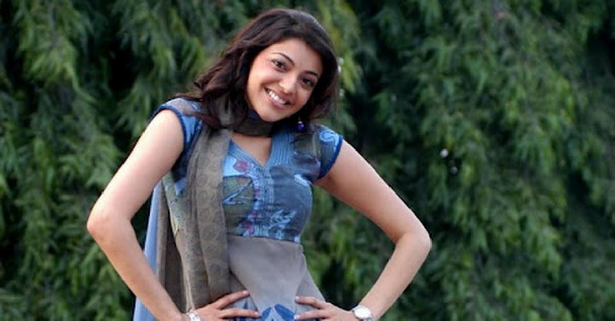 Kajal Agarwal Latest In Blue Suit Pics