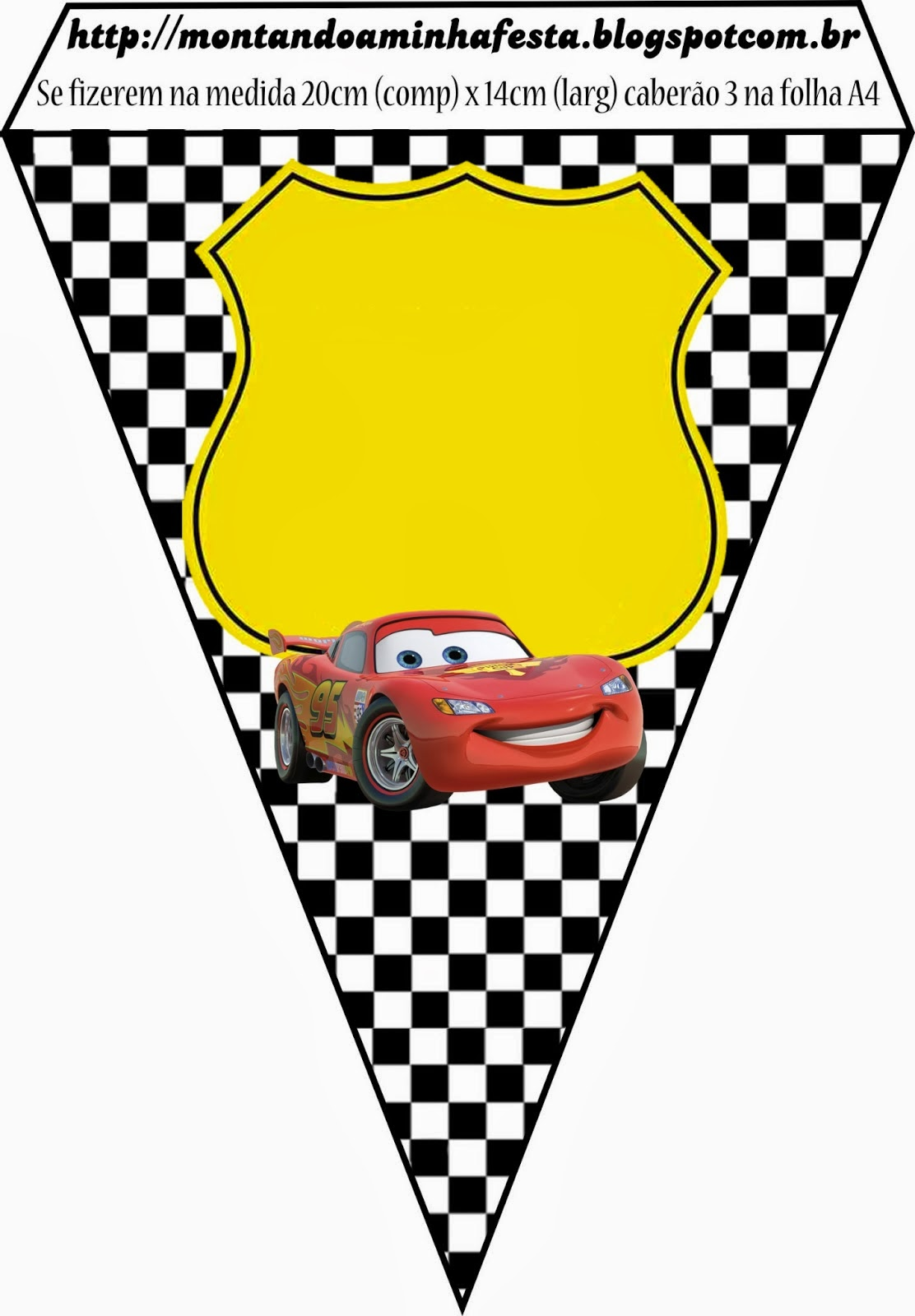 Cars Free Printable Party Banners.