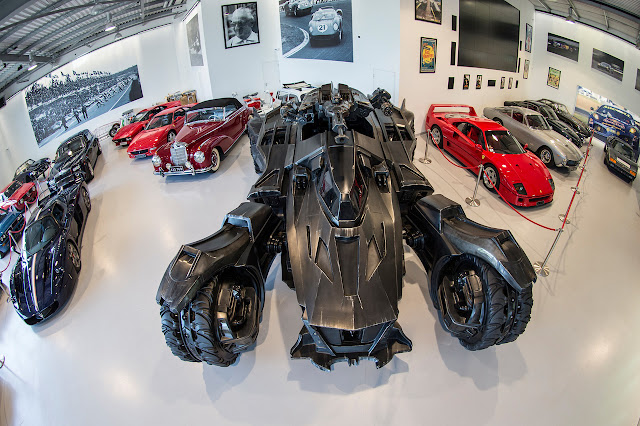 Photo from Warner Bros's Batman Arkham Knight Batmobile housed at Joe Macari supercar showroom in London