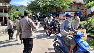 Personel Polsek Malua Bersama Pihak Terkait Laksanakan Ops Yustisi Cegah Covid-19