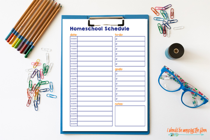 Homeschool Schedule Printable