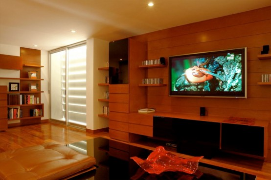 House Design - Modern house marble slabs with beautiful home lighting