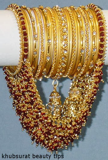 Khubsurat Beauty Tips Bangles Gold Jewellery For Brides