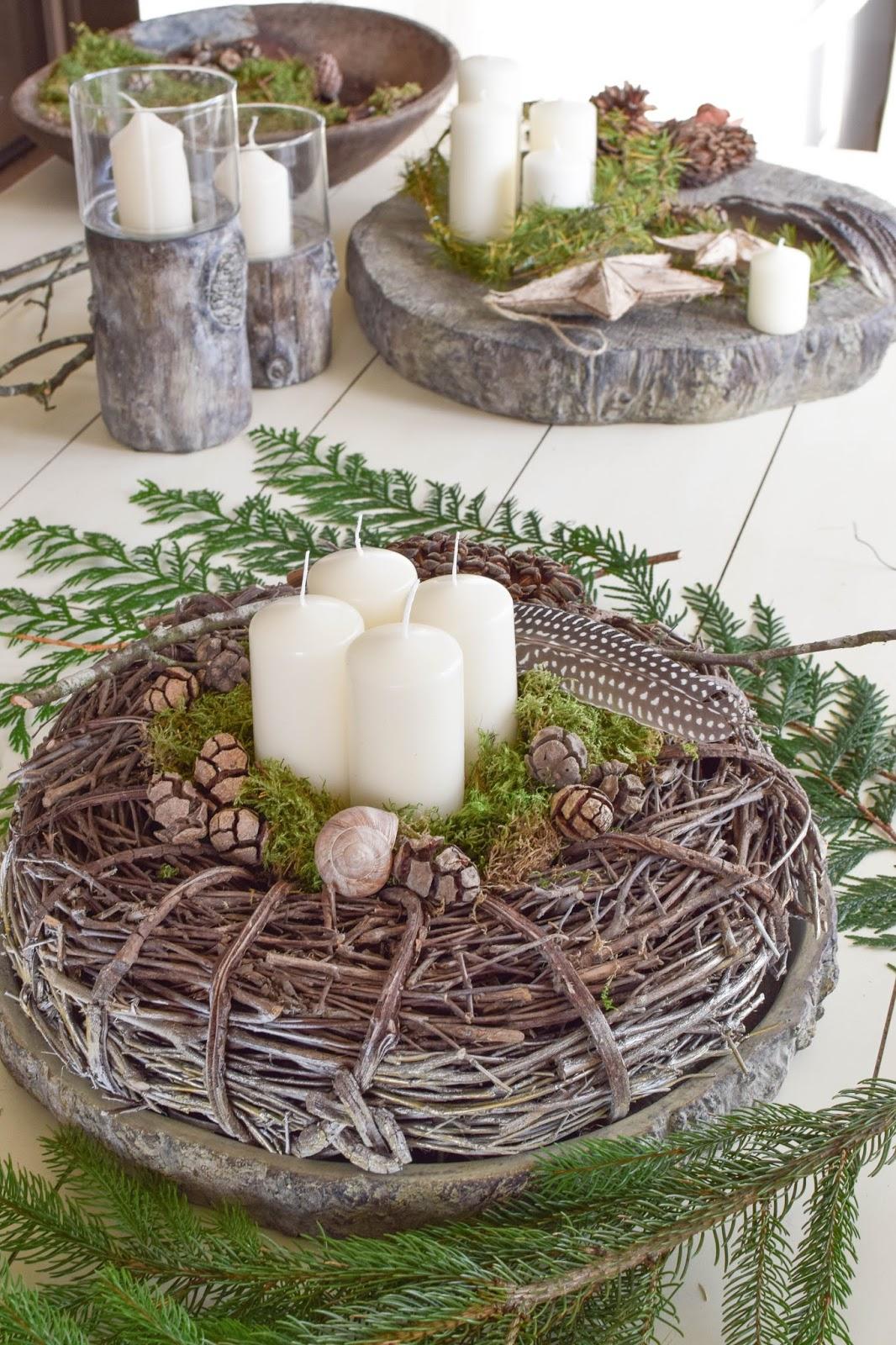 Einfache Tischdeko Advent Basteln Selbstmachdinge
