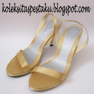 Sepatu Pesta Model Terbaru Warna Gold