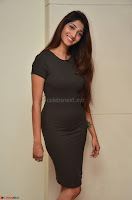 Priya Vadlamani super cute in tight brown dress at Stone Media Films production No 1 movie announcement 025.jpg
