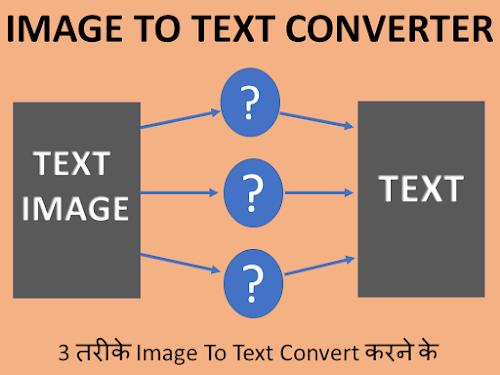 3 तरीके Image To Text Convert कैसे कर सकते है