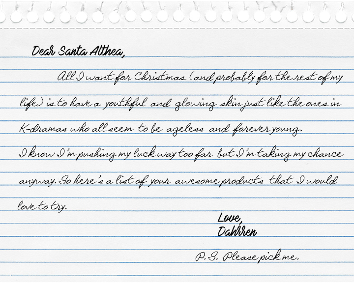 A letter to Santa Althea