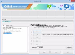 Cara Flash Samsung Note 2 N7100 Odin lengkap