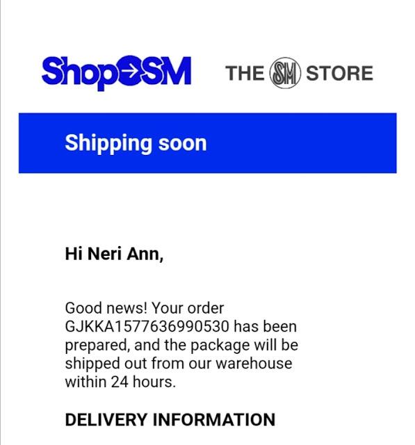 order details at ShopSM