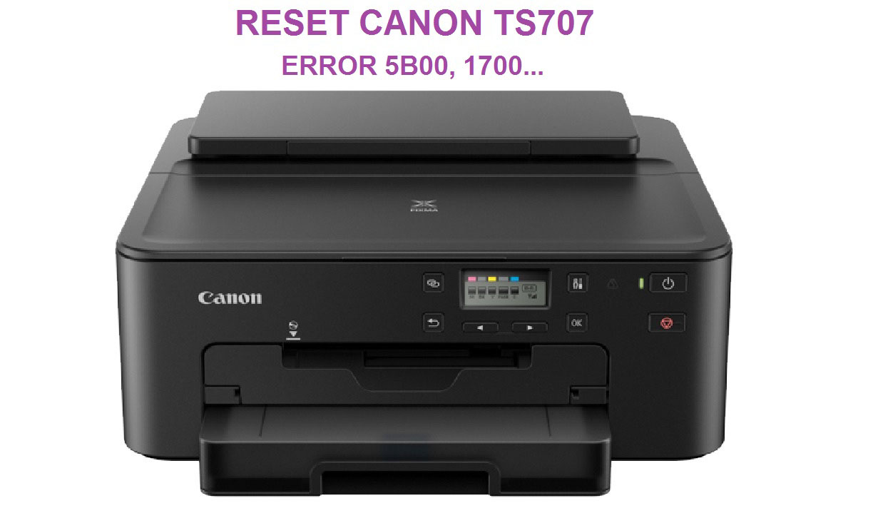 Guide How To Reset Canon PIXMA TS707