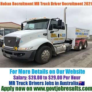 Hoban Recruitment MR Truck Driver Recruitment 2021-22