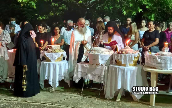 Αραχναίο Αργολίδας: Γιόρτασαν την Κοίμηση της Θεοτόκου στην Ιερά Μονή Ταλαντίου