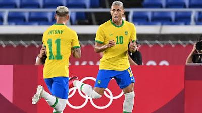 ملخص واهداف مباراة البرازيل وألمانيا (4-2) أولمبياد طوكيو