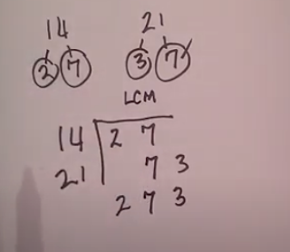 lcm 14 and 21