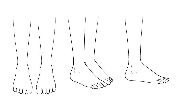 Gambar kaki sepatu sekolah anime