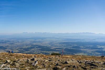 Babia Góra, panorama Tatr