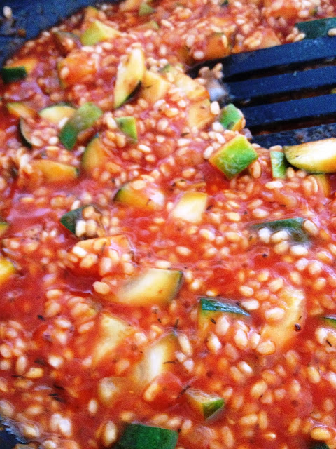 Sweet Kwisine, risotto, riz, courgette, tomate