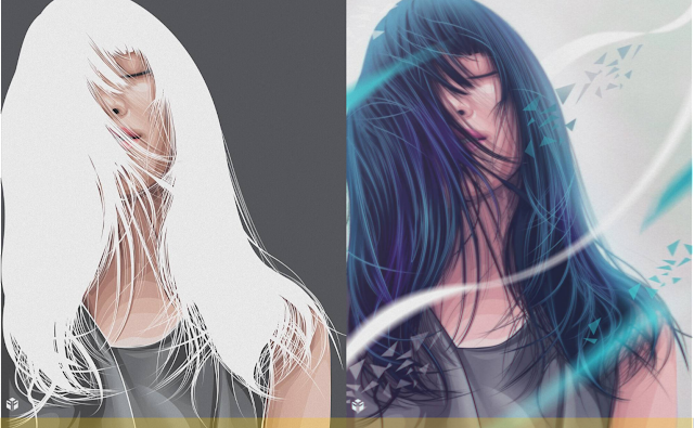 How to Draw Make Vector Hair Art in Photoshop
