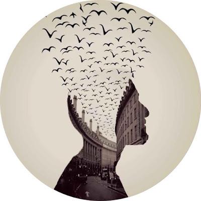 افتار شخص ومدينة وطيور بصورة واحدة لحسابك على مواقع التوصل