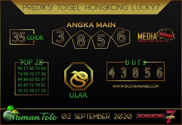 Prediksi Togel HONGKONG LUCKY 7 TAMAN TOTO 02 SEPTEMBER 2020