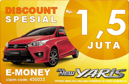 Discount Khusus plus E-Money Toyota Yaris