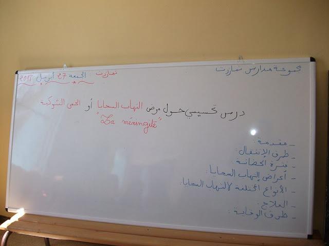 مجموعة مدارس تمازرت بمولاي بوعزة تنظم يوما تحسيسيا حول مرض التهاب السحايا :