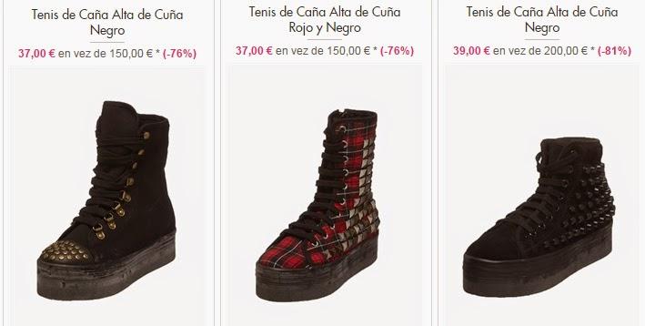 Zapatillas para mujer de caña alta