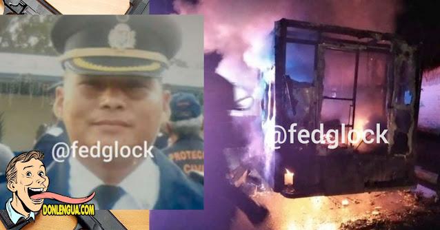 Quemaron ambulancia en al que se trasladaba el supervisor de la Policía de Aragua