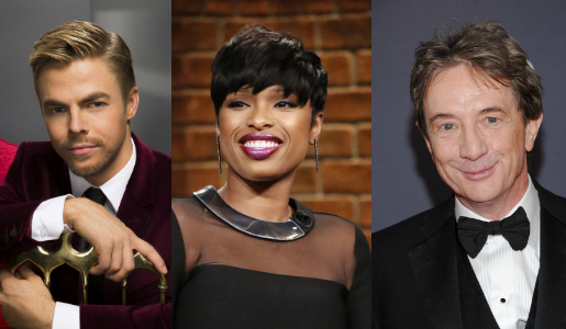 Derek Hough, Jennifer Hudson and Martin Short