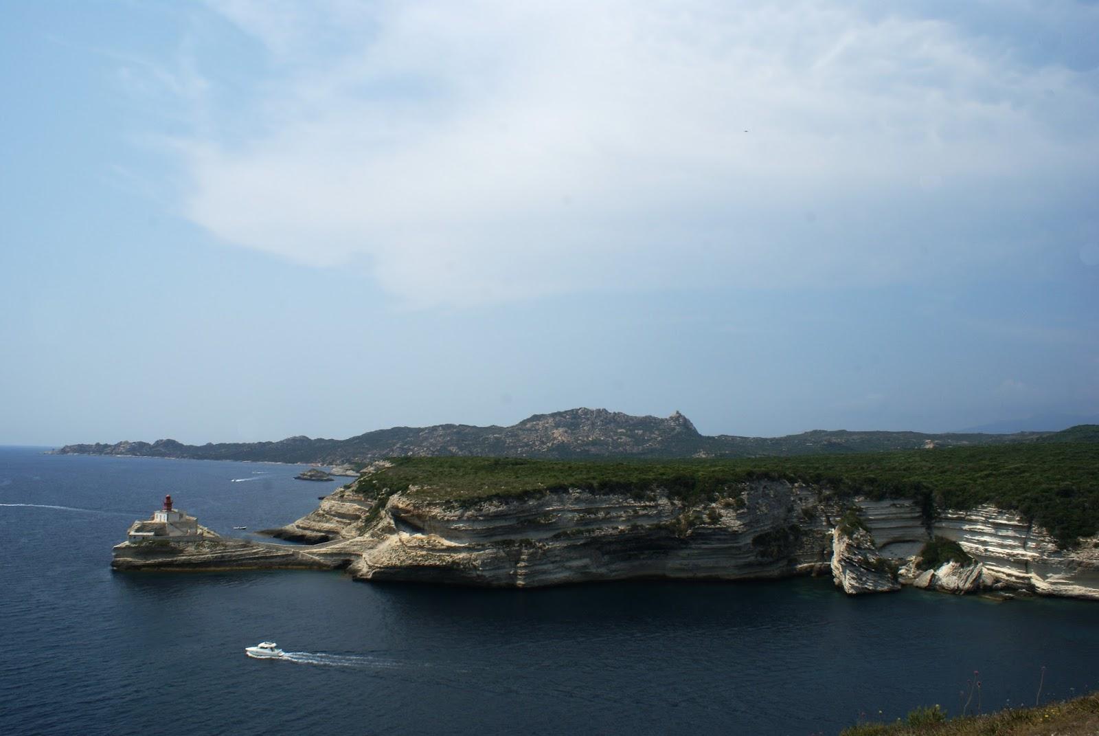 bonifacio corse corsica sea