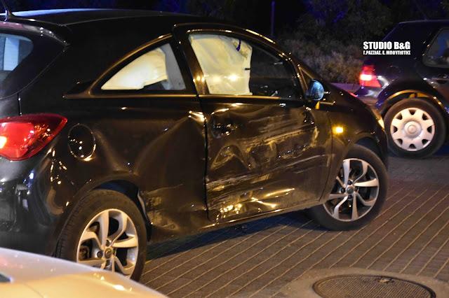 Σύγκρουση αυτοκινήτων στο Ναύπλιο