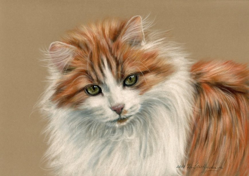 08-Ginger-Danguole-Serstinskaja-Paintings-of-Cats-that-look-like-Photographs