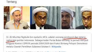 Waduh! Ali Mochtar Ngabalin Ditulis Sebagai Pembacot dan Tukang Ngibul di Wikipedia