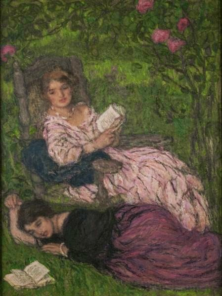 Mulher Lendo - Edmond Aman-Jean e suas principais pinturas  ~ Art Nouveau